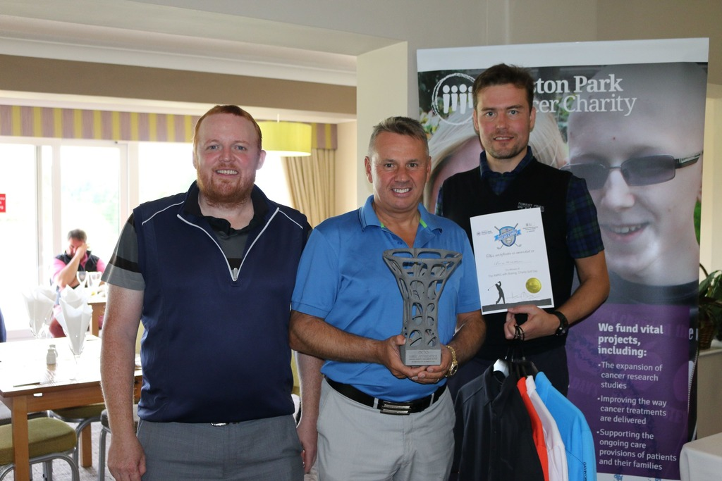 Picture caption from left to right: Glen McKay from Evenort, Terry Moore from Select Alloys and Materials and John-Paul Rooney from Withers & Rogers Patent Attorneys, winners of the AMRC Annual Golf Event.