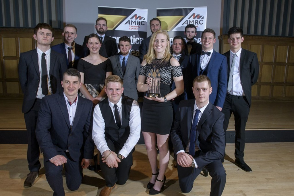All the apprentice award winners from the third annual Apprentice of the Year Awards featuring Leigh Worsdale, front and centre