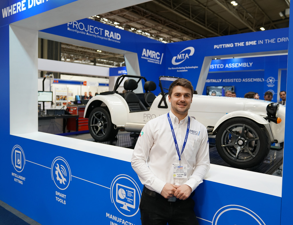 The AMRC's James Lindsay with Project RAID.