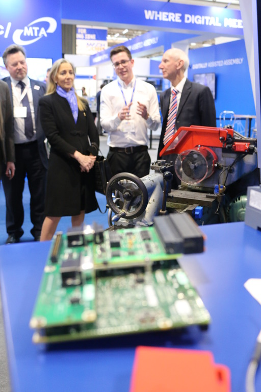 Baroness Fairhead, the Minister of State for International Trade also visited the team.