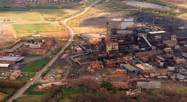 The coking plant in 1984 on the site of what is now the Advanced Manufacturing Park.