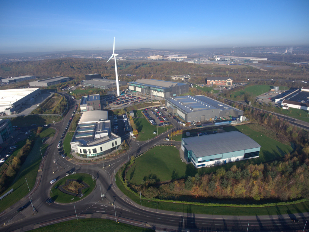 An aerial view of the Advanced Manufacturing Research Centre taken in 2018.