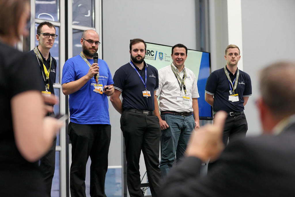 The AMRC fielded its own team 'Hack to the Future' whose performance was praised by the judging panel.