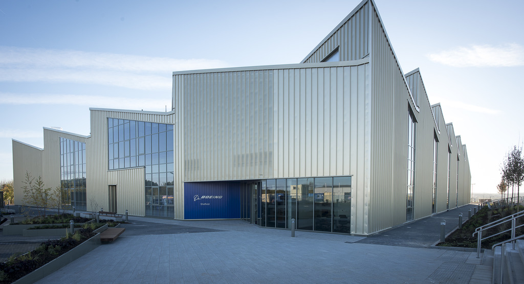 The new Boeing Sheffield factory at Sheffield Business Park, only meters from the doors of AMRC Factory 2050.