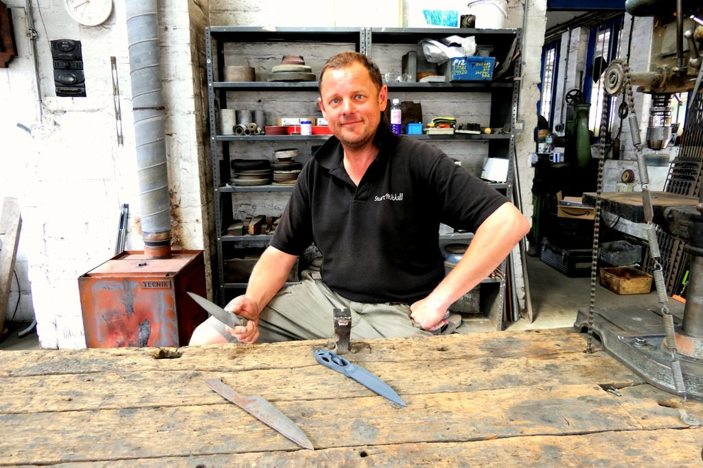 Sharp: Knife maker Stuart Mitchell who turned to the AMRC for a project to 3D print a bespoke titanium knife.