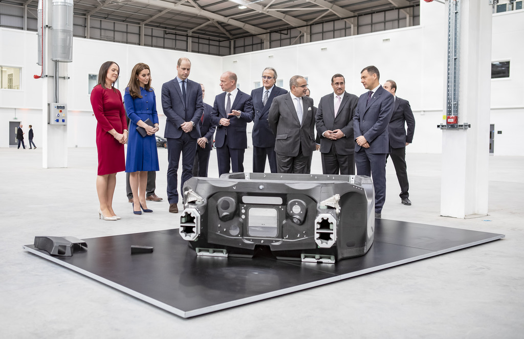 The Duke and Duchess of Cambridge attended the opening of McLaren Automotive's new £50 million McLaren Composites Technology Centre.