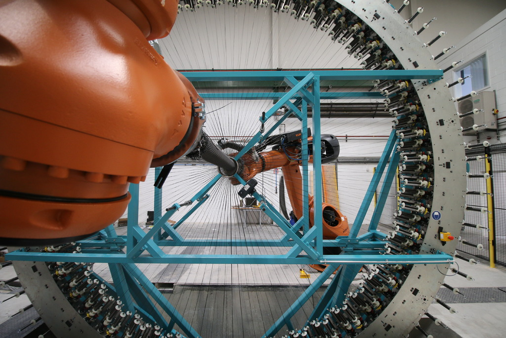 The large-scale triaxial braider is now open for business at the AMRC.