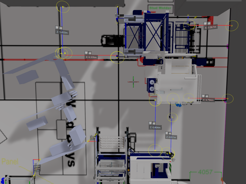 Seeing is believeing: The welding bays which were easy to reposition on the virtual plans.
