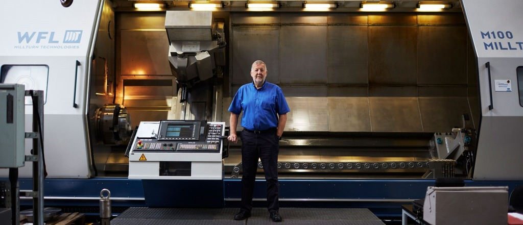 Keith Ridgway in the AMRC Machining room