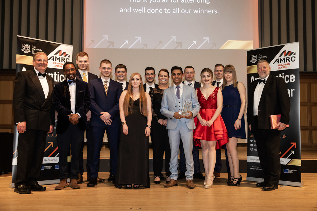 Talented bunch: The 2019 AMRC Training Centre Apprentice of the Year award winners.