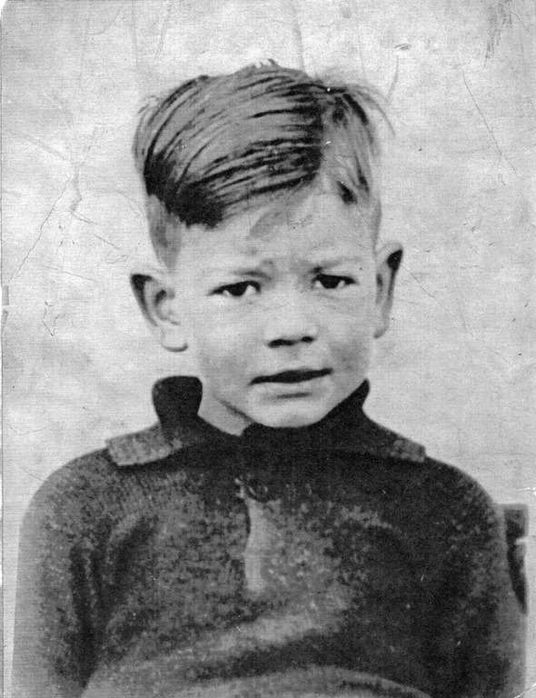 Graham as an 'Attercliffe kid' in 1950.