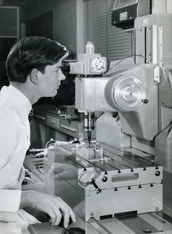 Dr Siddall as a student apprentice in 1964.