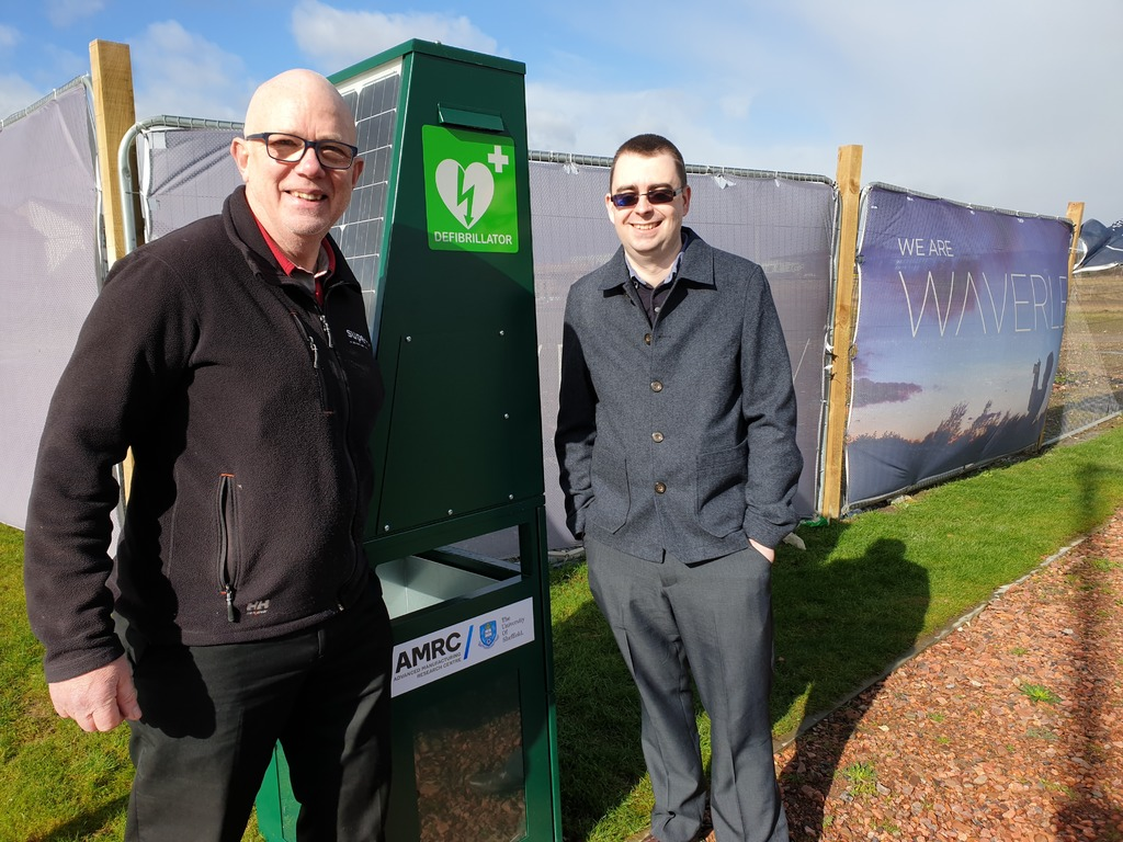 Partnership works: Inventor Ian Lilley and Jamie Baggaley with the solar-powered unit.