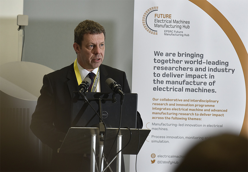 Professor Koen Lamberts, President and Vice-Chancellor of the University of Sheffield, speaking at the launch of the new research hub.