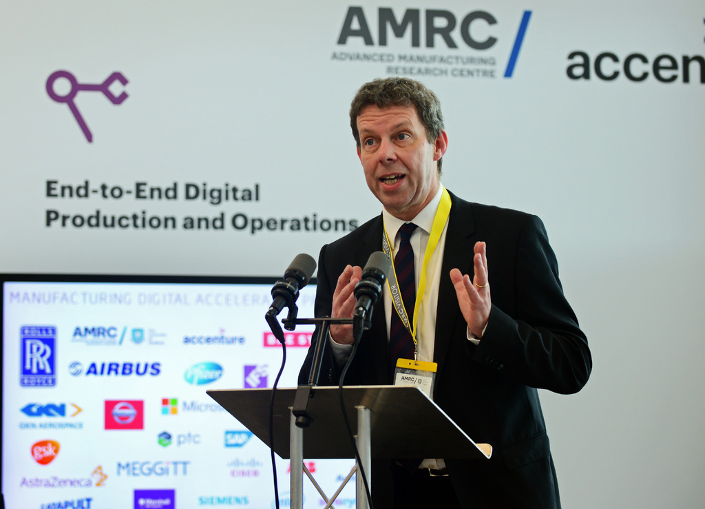 University of Sheffield VC Koen Lamberts during his speech at the launch event.