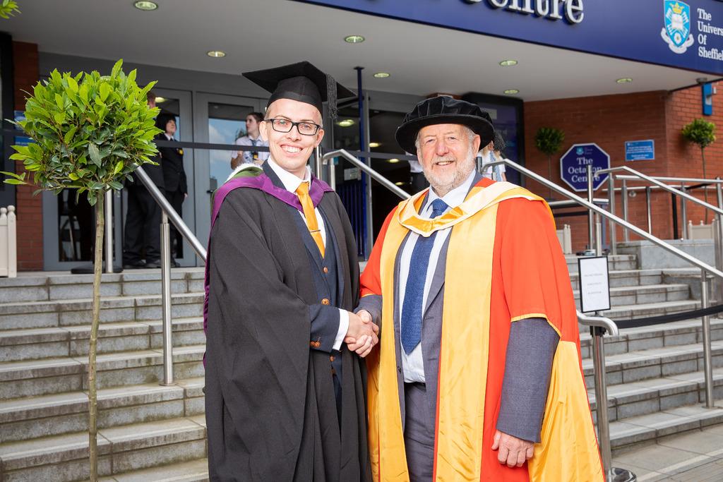 Craig Horton from Technicut with Prof Keith Ridgway.