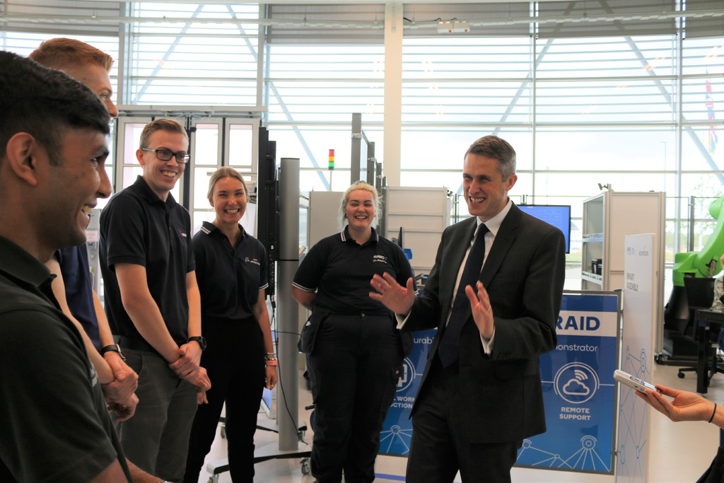 The Education Secretary met with apprentices from the AMRC Training Centre.