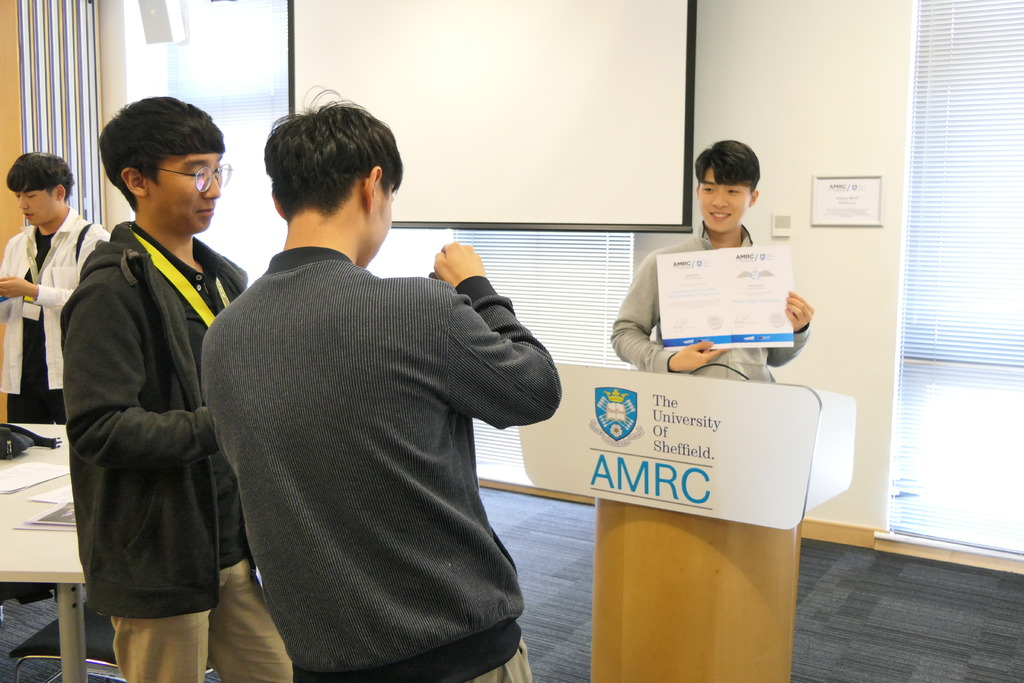 Students were given a tour of the entire AMRC during their four-week stay in South Yorkshire.