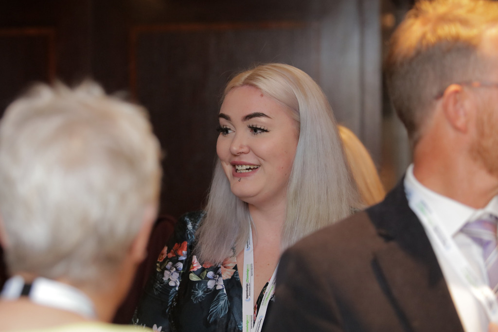 Rebecca Wright at the Yorkshire and Humber National Apprenticeship Awards