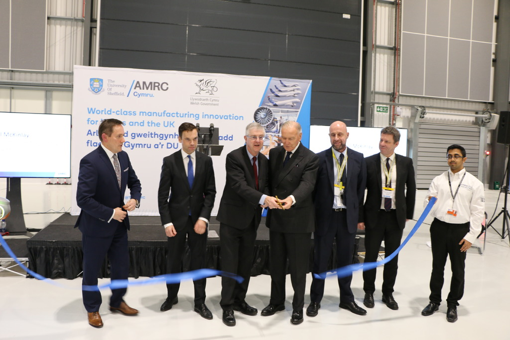 Welsh Government First Minister Mark Drakeford and Lord Barry Jones have cut the ribbon to open the new facility in Broughton in Wales.