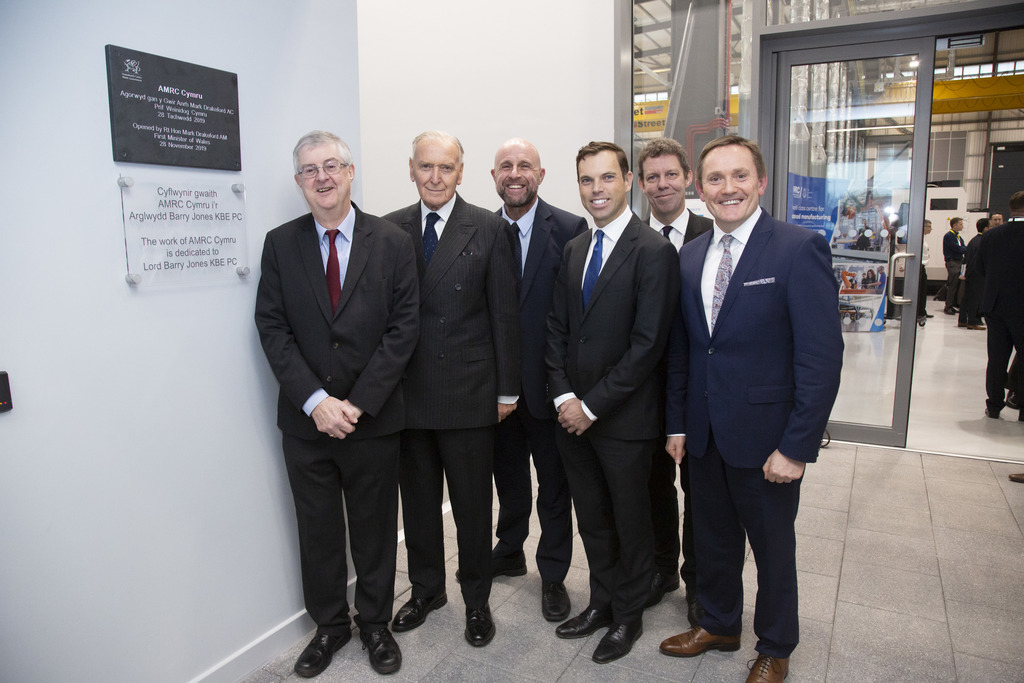 Rt Hon Mark Drakeford, Lord Barry Jones, Paul McKinlay, Ken Skates, Prof Koen Lamberts and David Jones OBE.