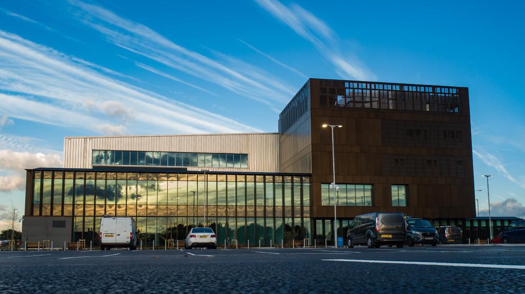 The AMRC Cymru building in Broughton, Wales.