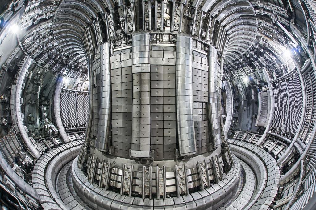 The interior of a JET tokomak. Photo: EUROfusion.