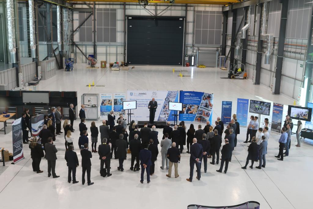 The Aerospace Growth Partnership (AGP) event at AMRC Cymru.