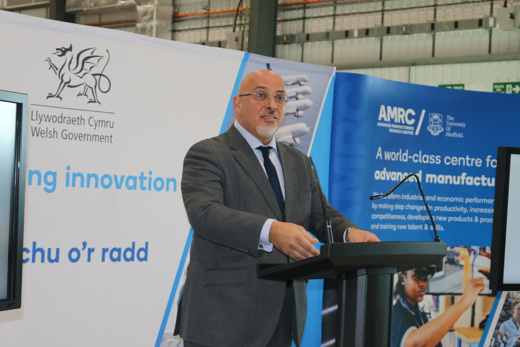 Mr Zahawi delivers his speech at the Aerospace Growth Partnership (AGP) event.