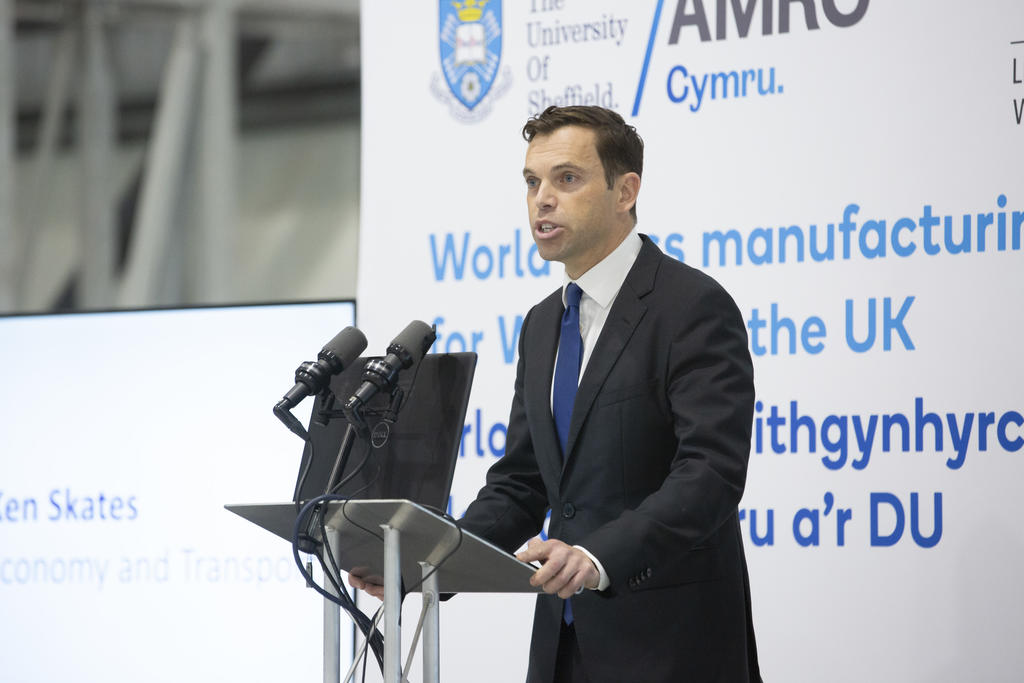 Economy and North Wales Minister Ken Skates called AMRC Cymru a 'game-changer for the economy of North Wales' at the official opening.