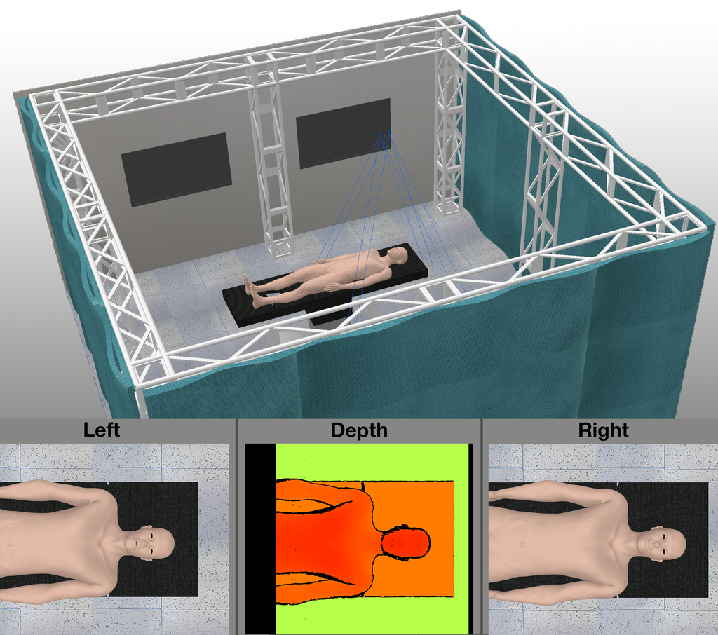 A virtual representation of the Stereo Theatre by i3D robotics.