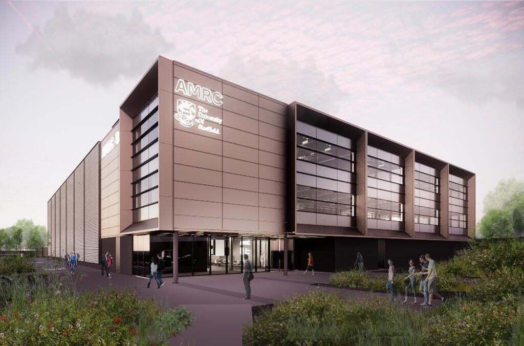 An artist impression showing the new University of Sheffield AMRC North West facility.