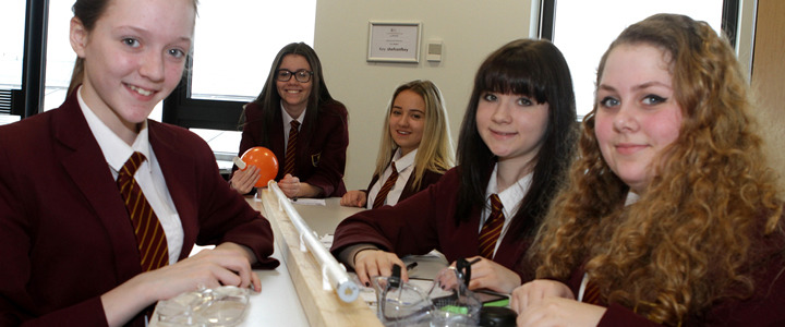 Pictured left to right are Abigail Darrell, Portia Holt, Codie Danford, Rebecca Swift and Libby Chapel from Wath Comprehensive.