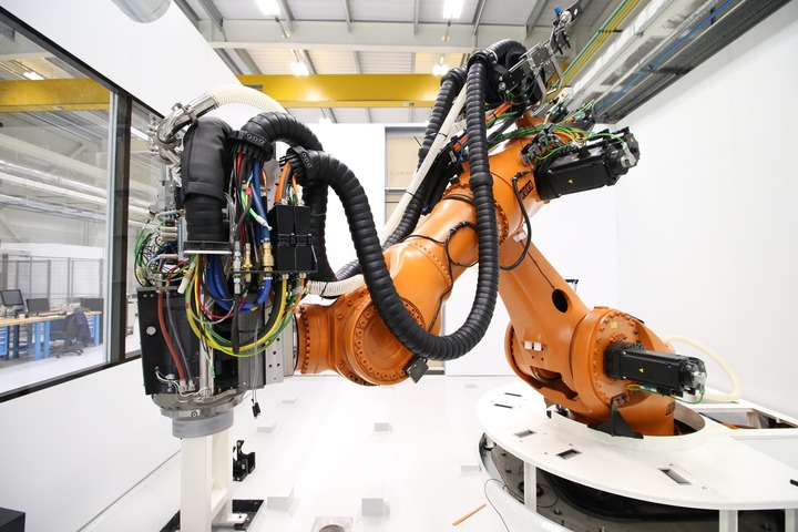 The newly upgraded KUKA Titan robot at the AMRC's Factory 2050.